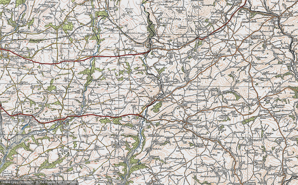 Old Map of Ermington, 1919 in 1919