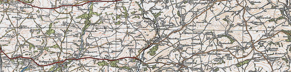 Old map of Ermington in 1919