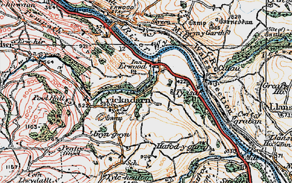 Old map of Erwood in 1919