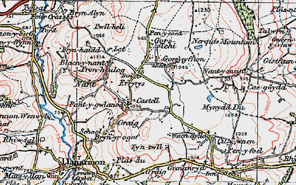 Old map of Eryrys in 1924