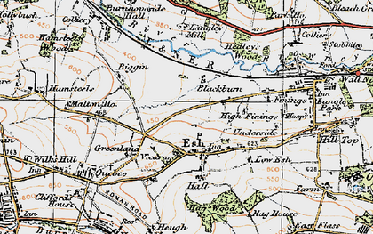 Old map of Langley West Ho in 1925