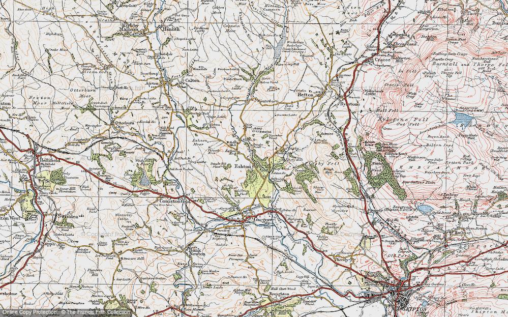 Old Map of Eshton, 1925 in 1925