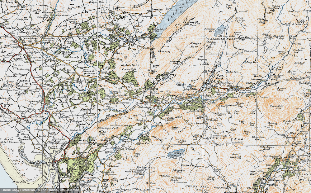 Old Map of Historic Map covering Linbeck in 1925