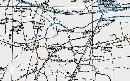 Old map of Aire and Calder Navigation in 1924