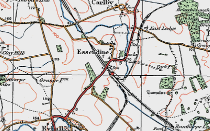 Old map of Tolethorpe Oaks in 1922