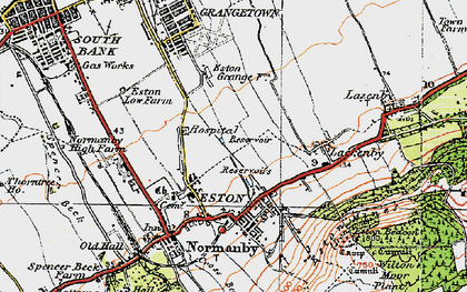 Old map of Eston in 1925