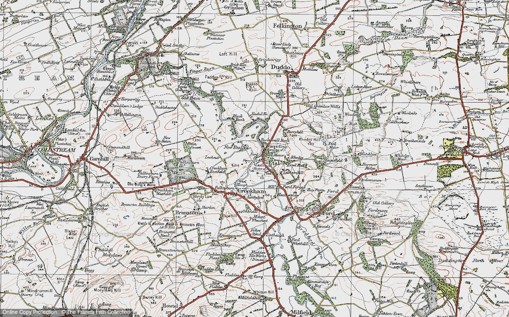 Old Map of Historic Map covering Letham Hill Haugh in 1926