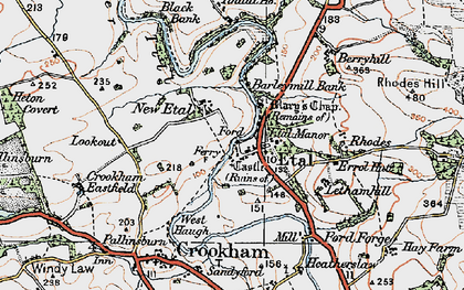 Old map of Letham Hill Haugh in 1926