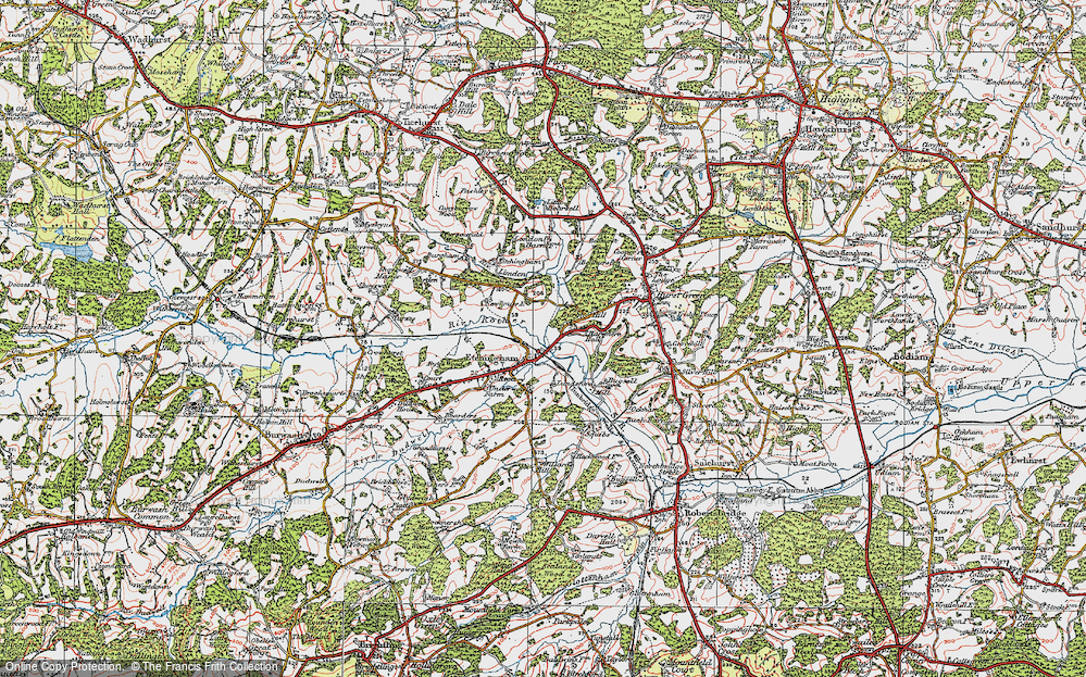 Old Map of Etchingham, 1921 in 1921