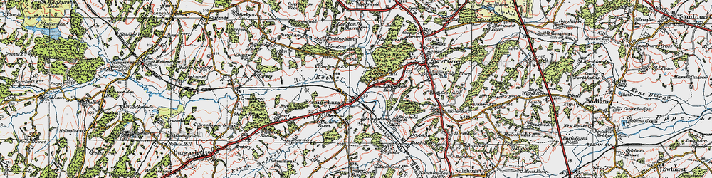 Old map of Etchingham in 1921