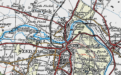 Old map of Eton in 1920