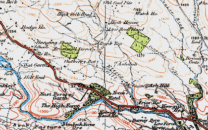 Old map of Ashdub in 1925