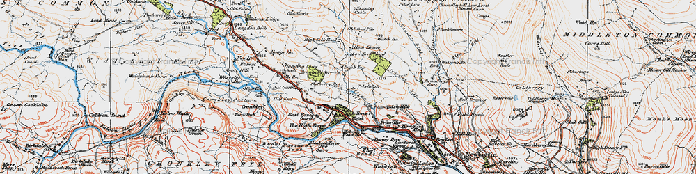 Old map of White Mere in 1925