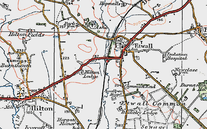 Old map of Ashe Hall (Tara Buddhist Centre) in 1921
