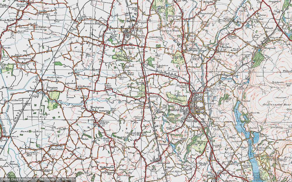 Old Map of Historic Map covering Woodcock Fold in 1924