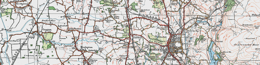 Old map of Woodcock Fold in 1924