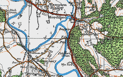 Old map of Bagpiper's Tump in 1920