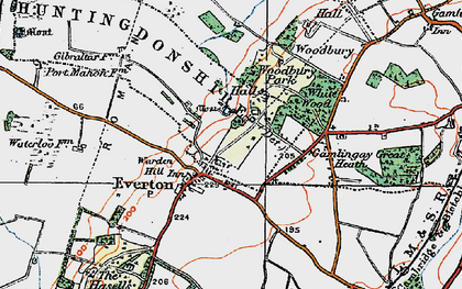 Old map of Everton in 1919