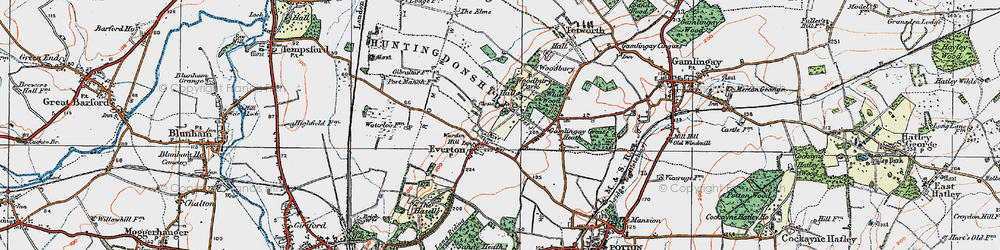 Old map of Woodbury Hall in 1919
