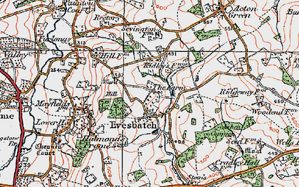 Old map of Ashen Coppice in 1920
