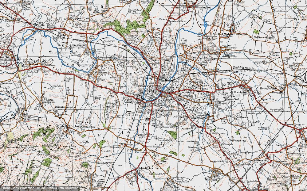 Map Of Evesham Old Maps of Evesham   Francis Frith Map Of Evesham