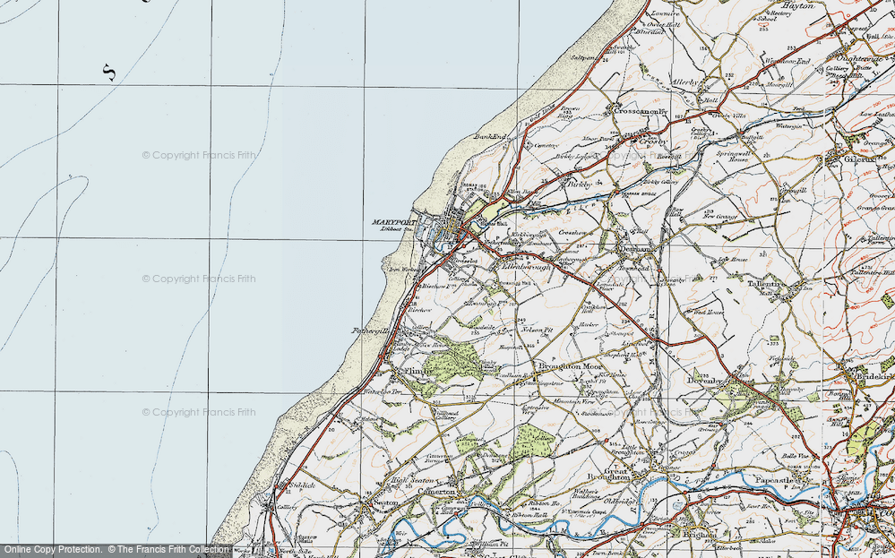 Old Map of Historic Map covering Balnakeil Forge in 1925