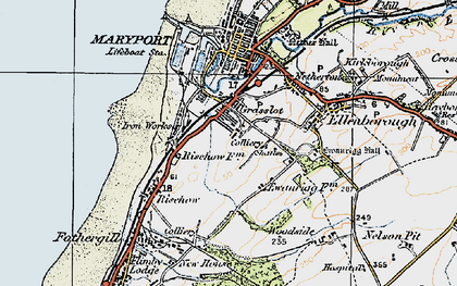 Old map of Balnakeil Forge in 1925