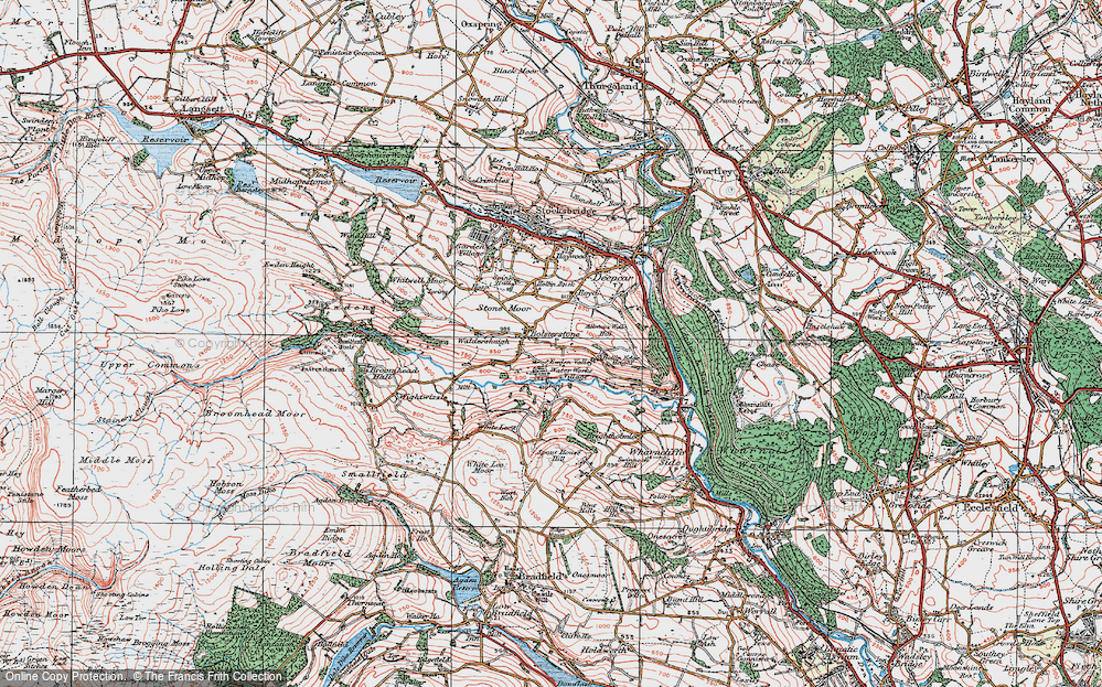 Old Map of Ewden Village, 1924 in 1924