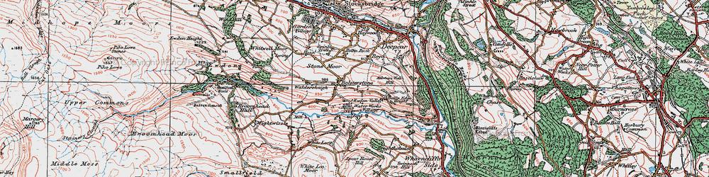 Old map of Ewden Village in 1924