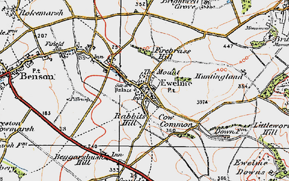 Old map of Ewelme in 1919
