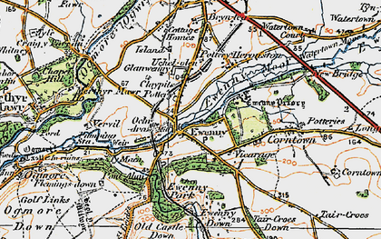 Old map of Ewenny in 1922