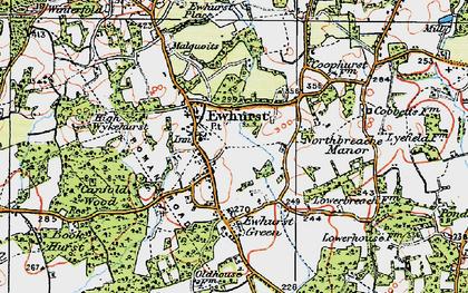 Old map of Ewhurst in 1920