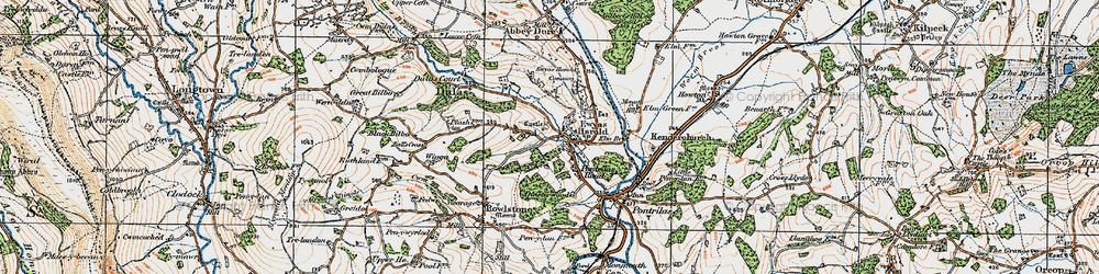 Old map of Ewyas Harold in 1919