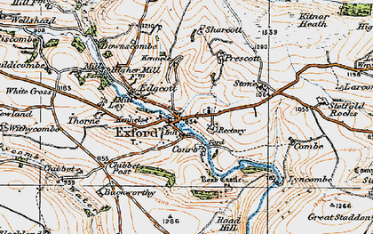 Old map of Exford in 1919