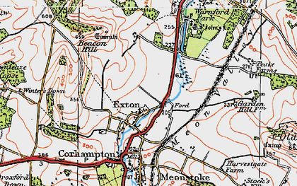 Old map of Winters Down in 1919
