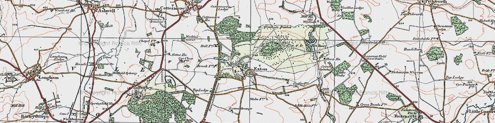 Old map of Westland Wood in 1922