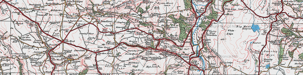 Old map of Eyam in 1923