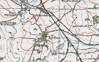 Old map of Tile Barn in 1919