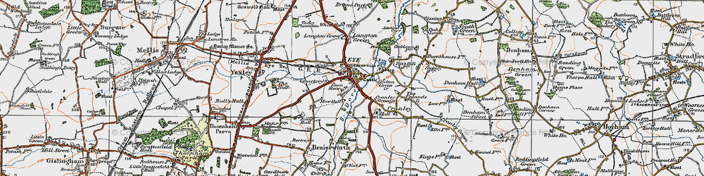 Old map of Eye in 1921