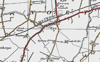 Old map of Eye in 1922
