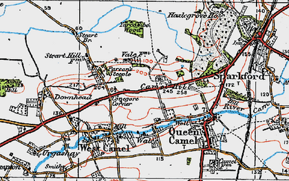 Old map of Yarcombe Wood in 1919