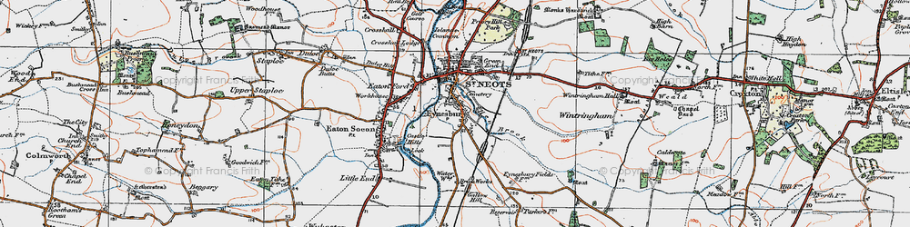 Old map of Wintringham Hall in 1919