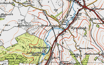 Old map of Eynsford in 1920