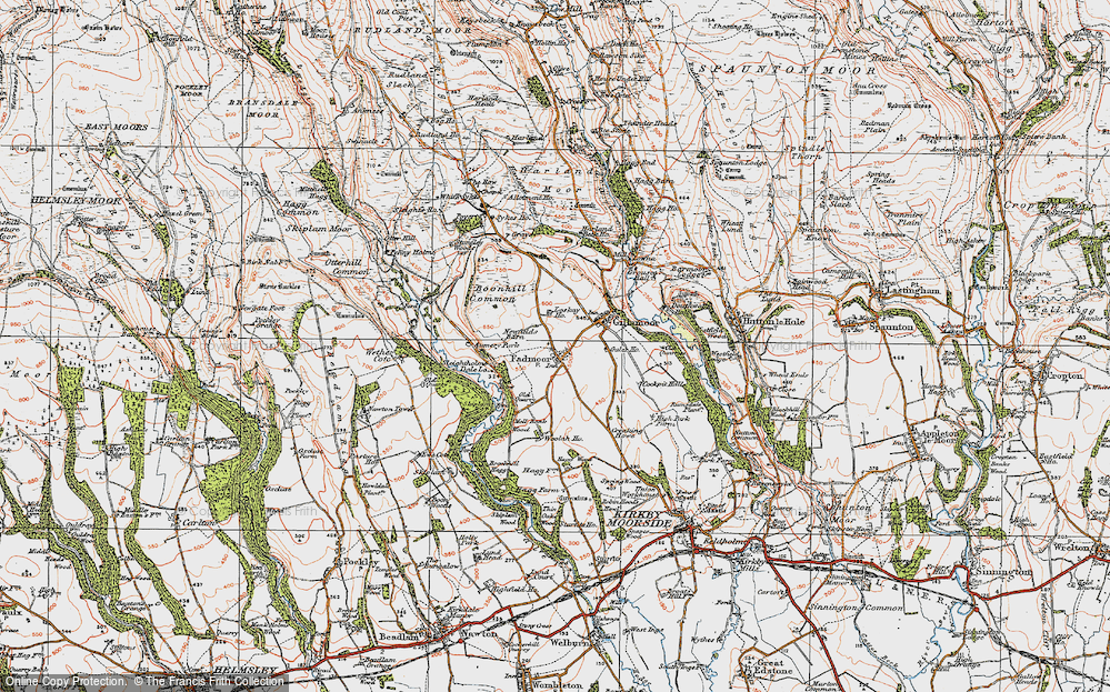 Old Map of Historic Map covering Aumery Park in 1925