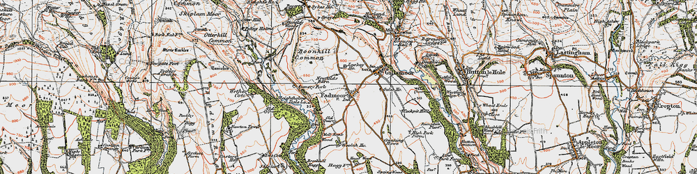 Old map of Woolah in 1925