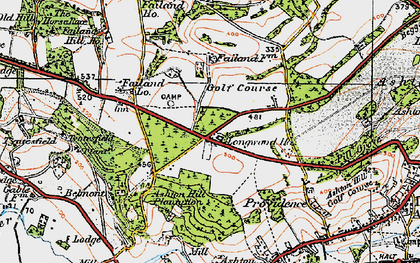Old map of Ashton Hill Plantn in 1919