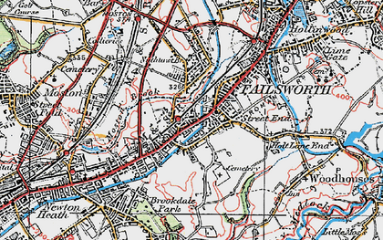 Old map of Failsworth in 1924