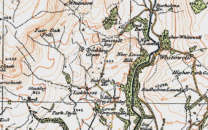 Old map of Whitmore in 1924