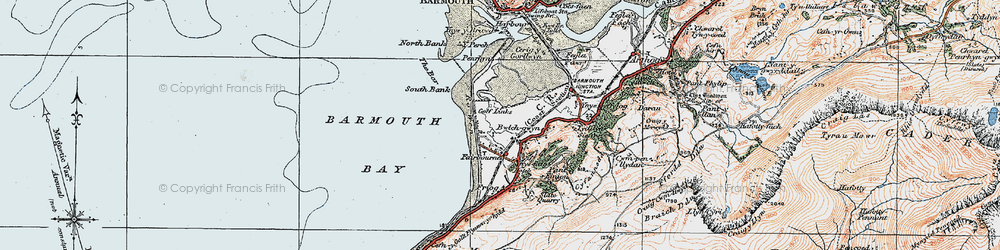 Old map of Fairbourne in 1922