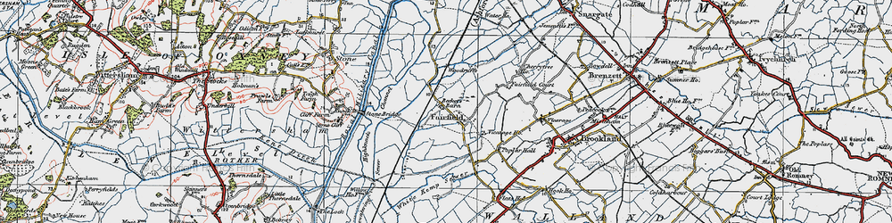 Old map of White Kemp Sewer in 1921